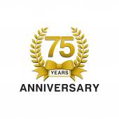 75th anniversary golden wreath logo