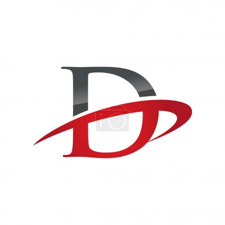 D red initial company swoosh logo