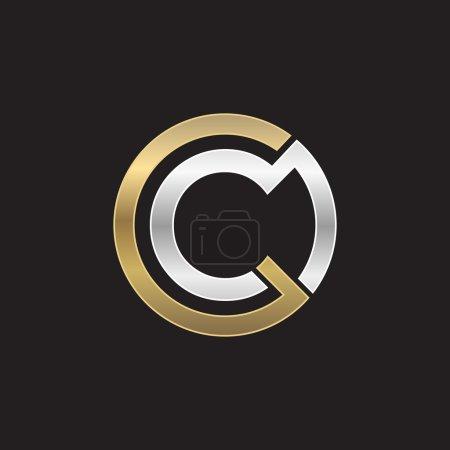 Illustration pour C logo initial de l'entreprise pour les entreprises - image libre de droit