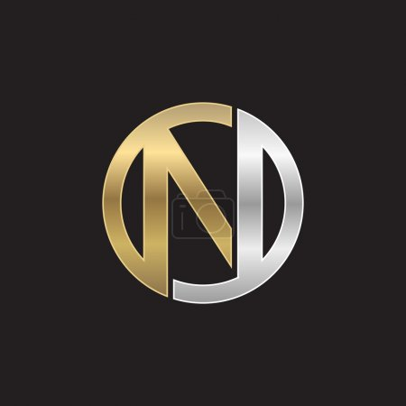 N initial circle company or NO ON logo black background
