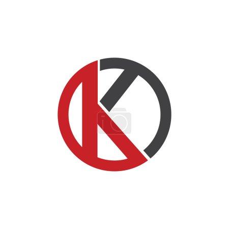 K initial circle company or KO OK logo red