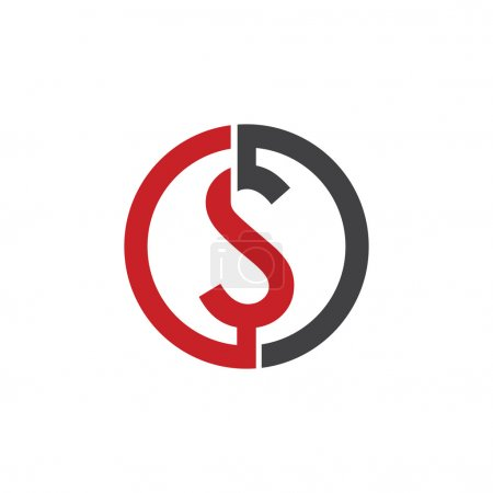 S initial circle company or SO OS logo red