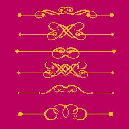 Illustration pour Éléments décoratifs, règles de bordure et de page - image libre de droit