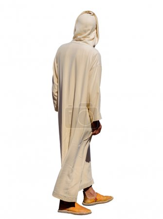 A man wearing traditional djellabah