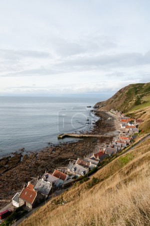 Crovie village on seashore