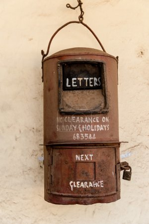 An old Indian post box