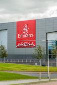 Exterior signage of the Emirates Arena