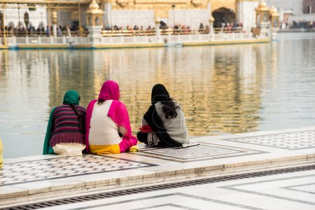 Three female sikh pilgrims