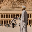 LUXOR, EGYPT - NOVEMBER 26, 2011: A guide at the M...
