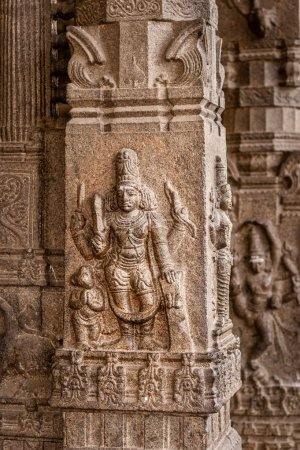 Intricate carved pillar