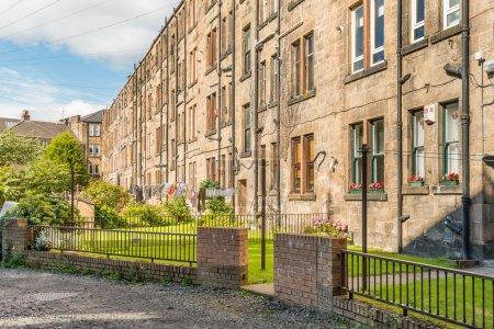 Backyards of sandstone tenement flats