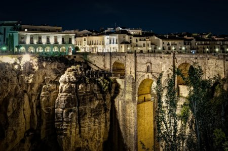 The New Bridge Ronda, at night