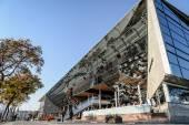 Barcelona marina building