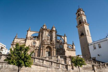Photo pour La cathédrale de san salvador à jerez de la frontera, Andalousie Espagne. - image libre de droit