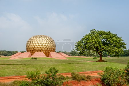 The Matrimandir at Auroville.
