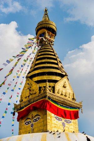 A small gilded stupa