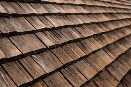 Roof shingles detail