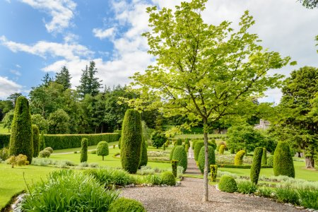 Gardens near Drummond Castle