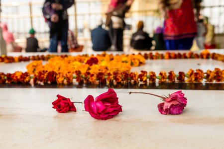 Floral offerings at Golden Temple