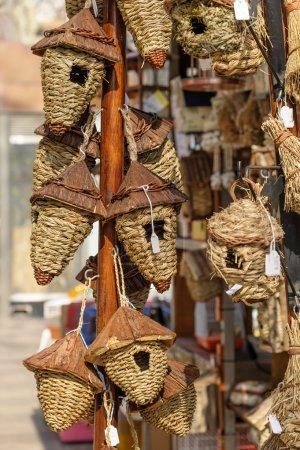 Woven bird boxes