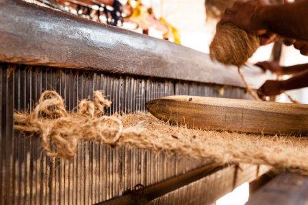 Hand operated coir loom