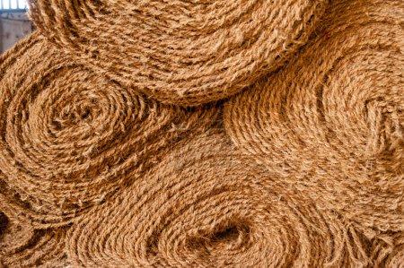 Rolls of coir matting