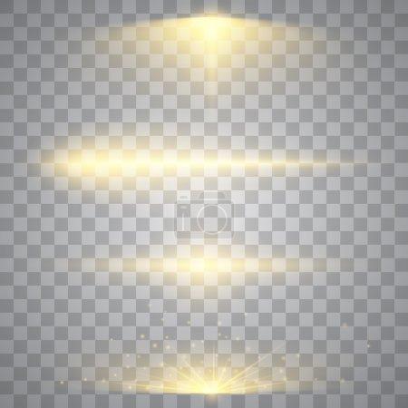 Set of golden lights