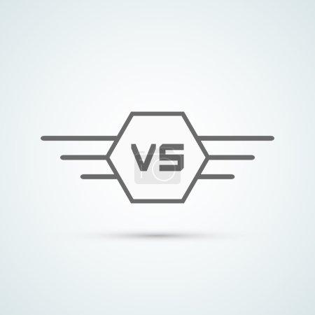 Versus image. Vector illustration