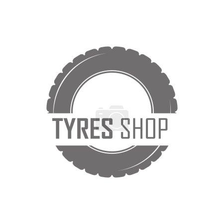 Illustration for Wheels Shop Logo Design - Wheels Business Branding - Royalty Free Image
