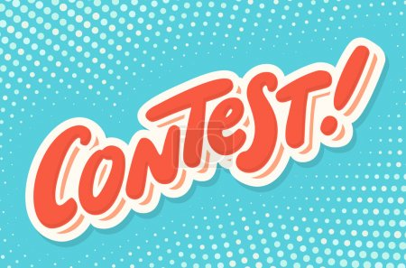 Contest banner. Hand lettering.