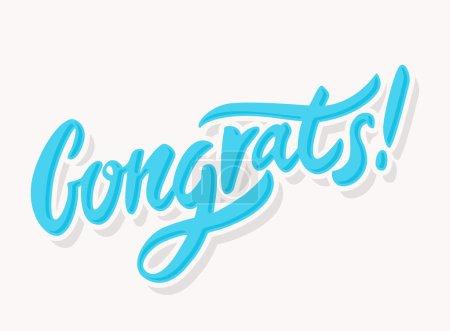 Congrats. Congratulations card.