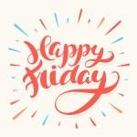 Happy Friday banner vector illustration...