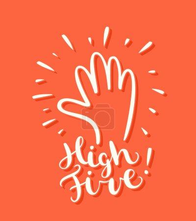 High five! Greeting card.