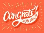 Congrats! Congratulations card
