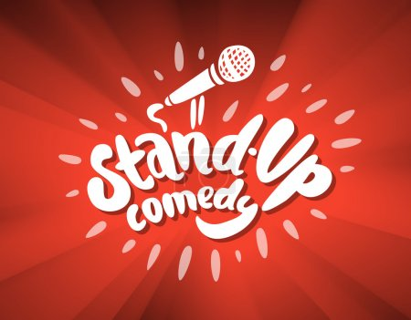 Illustration for Stand up comedy background - Royalty Free Image