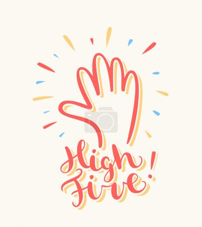 High five! Greeting card.