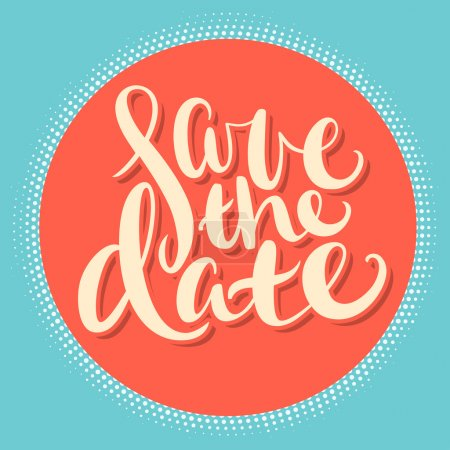 Illustration for Save the date background vector - Royalty Free Image