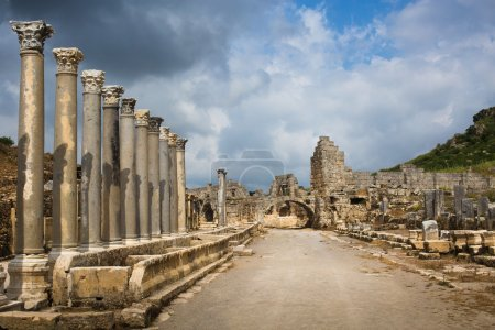 Ancient city of Perge not far from Antalya, Turkey...