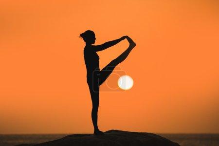Yoga on sunset