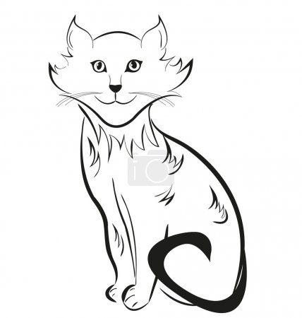 Outline silhouette of a cat