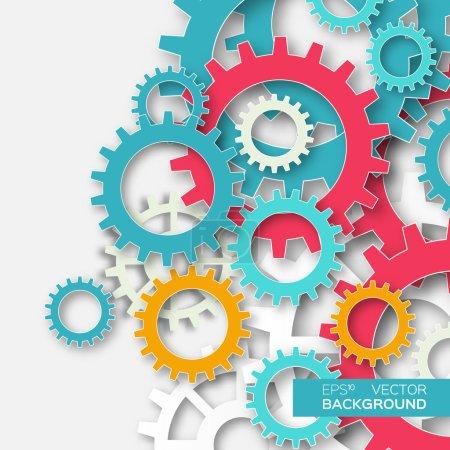 Mechanism system cogwheels.Tech project....