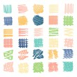Drawn textures .Different shapes scribble, line, s...