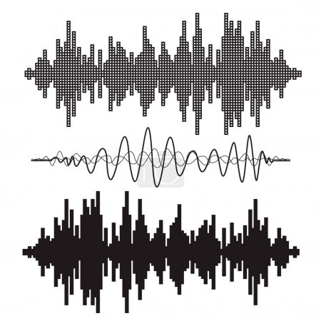 music sound waves set