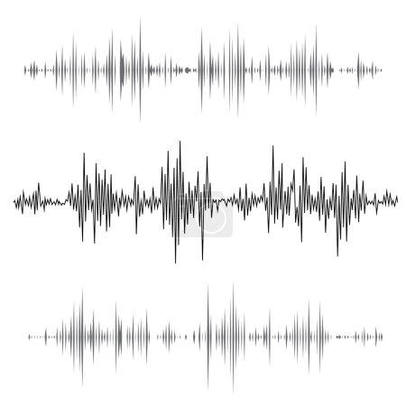 music sound waves set