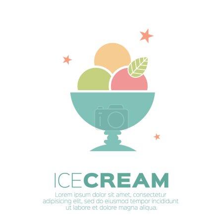 Illustration pour Icônes de crème glacée. Symboles mono vectoriels de douceur . - image libre de droit