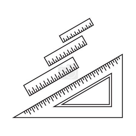 Ruler icons. Ruler symbols