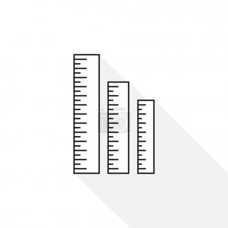 Ruler icon. Ruler symbol. Office Supply Objects. F...