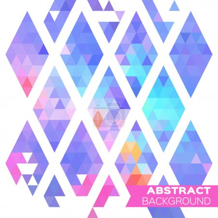 Abstract colorful geometric rhombus triangles back...