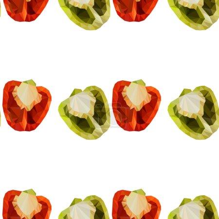 Polygonal bell pepper