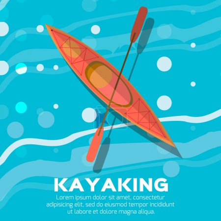 Kayak and paddle
